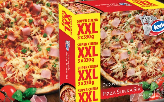 Pizza XXL Šunka - Sir