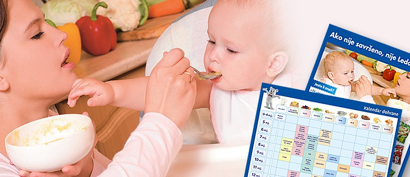 Practical calendar for infant feeding