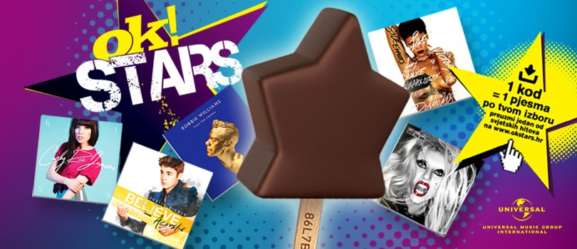 OK! Stars ice cream brings you the world's greatest hits and great prizes