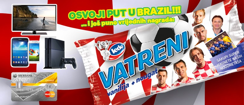 Enjoy the new Ledo ice cream Vatreni and participate in the grand prize game!